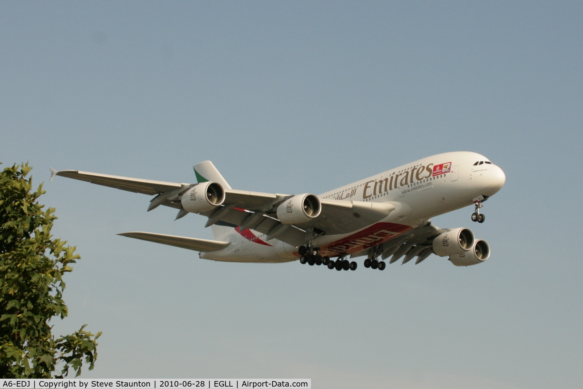 A6-EDJ, 2006 Airbus A380-861 C/N 009, Taken at Heathrow Airport, June 2010
