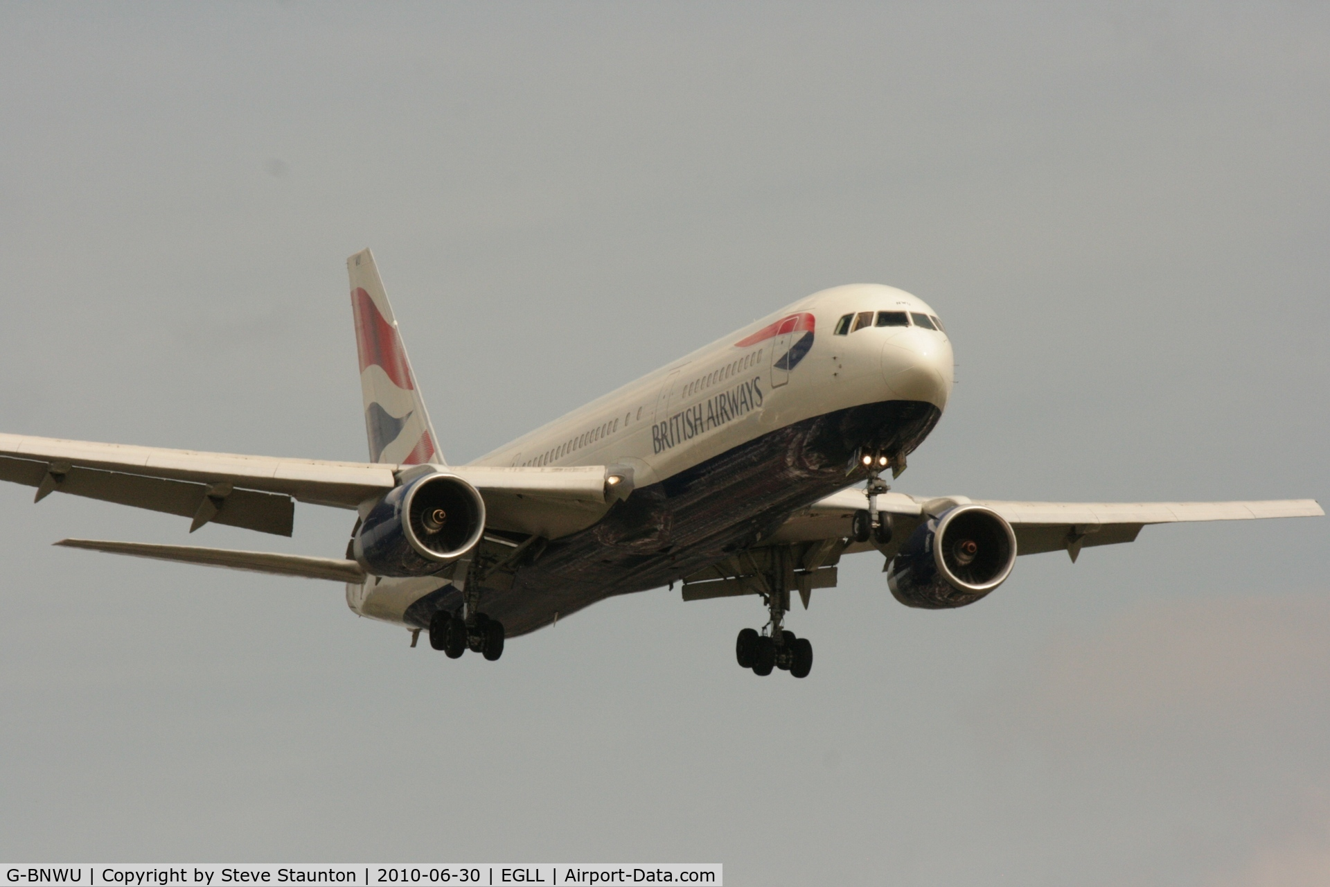 G-BNWU, 1993 Boeing 767-336 C/N 25829, Taken at Heathrow Airport, June 2010
