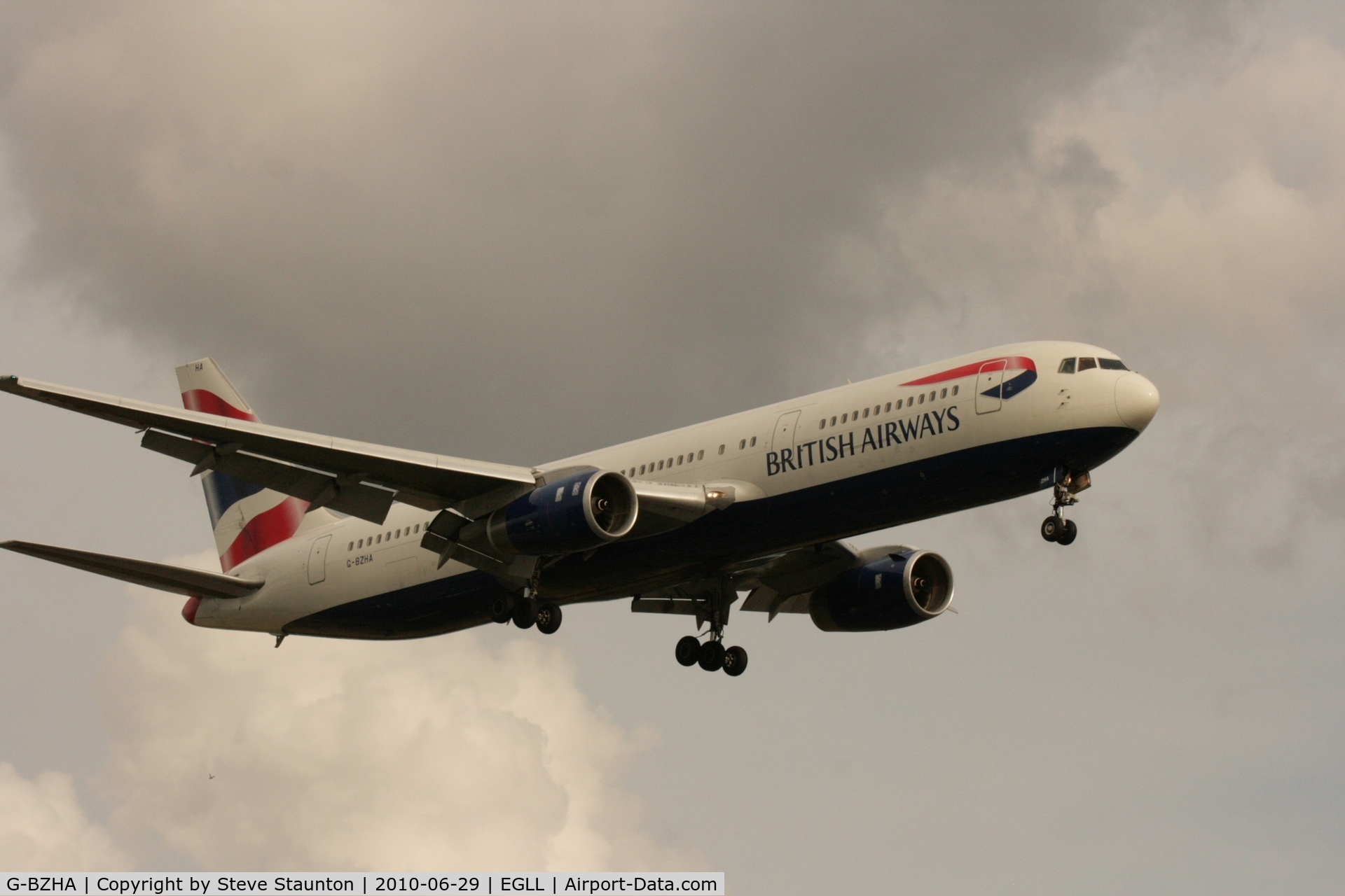 G-BZHA, 1998 Boeing 767-336 C/N 29230, Taken at Heathrow Airport, June 2010