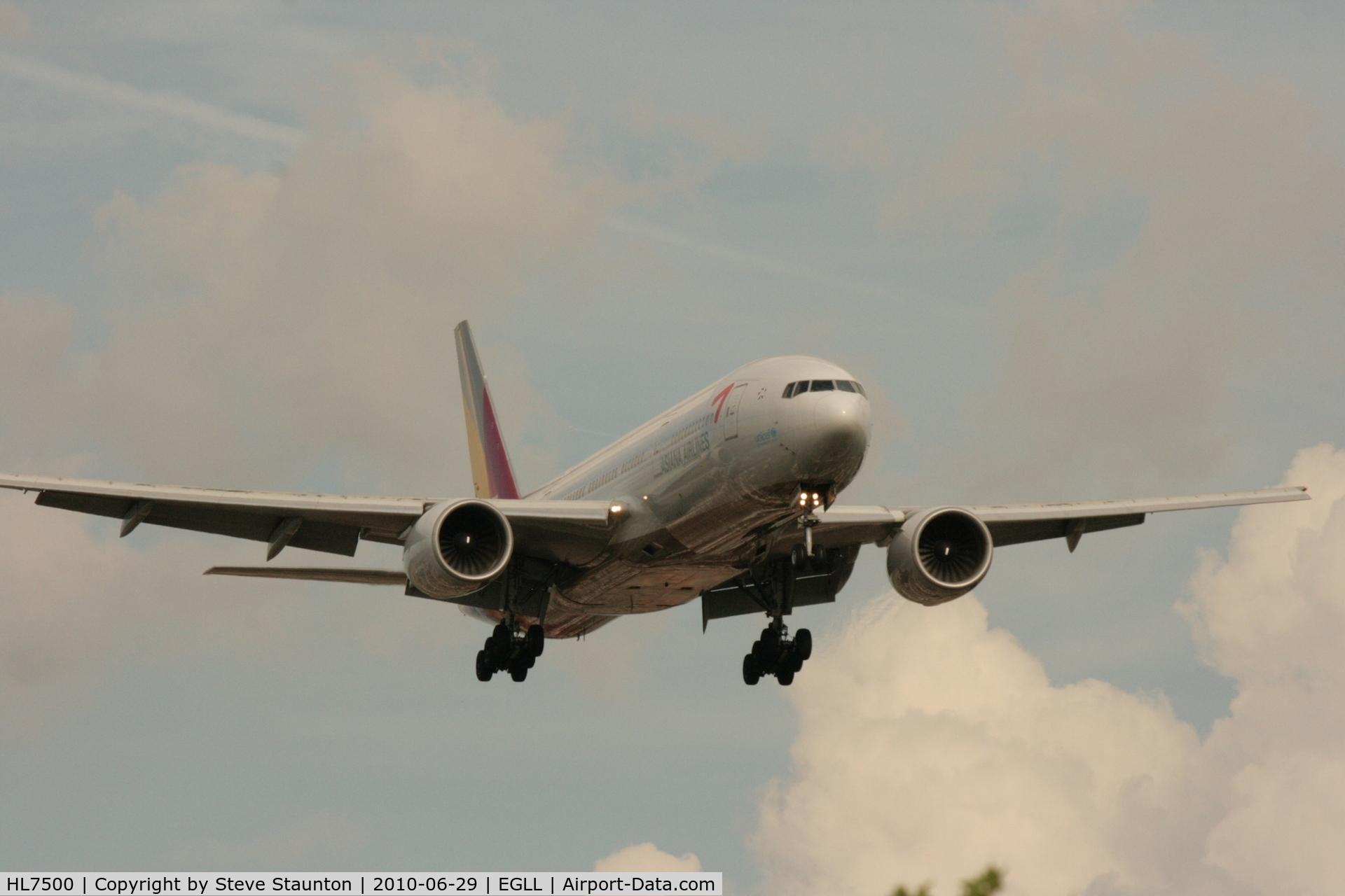HL7500, 2002 Boeing 777-28E/ER C/N 28685, Taken at Heathrow Airport, June 2010