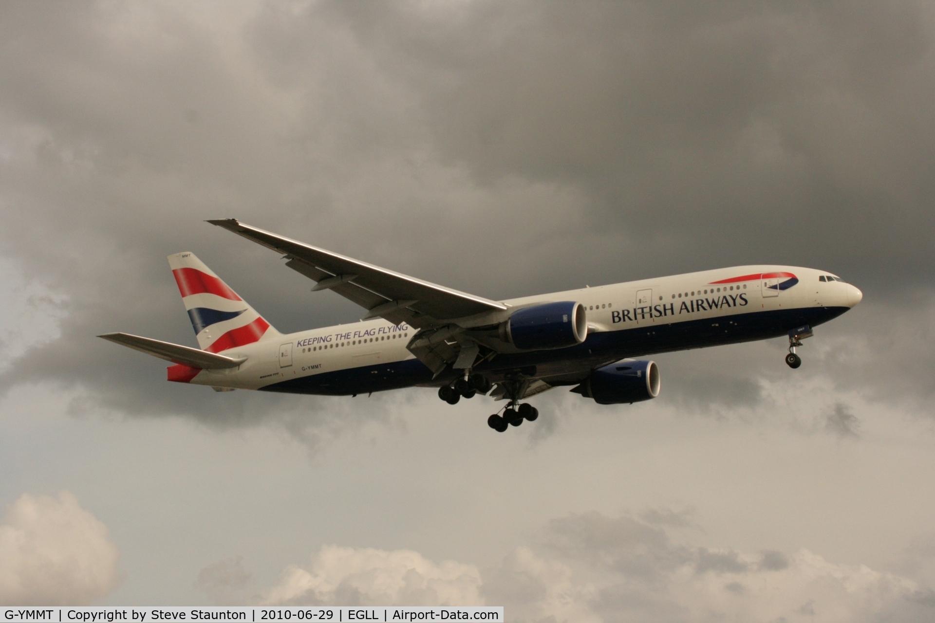 G-YMMT, 2009 Boeing 777-236/ER C/N 36518, Taken at Heathrow Airport, June 2010