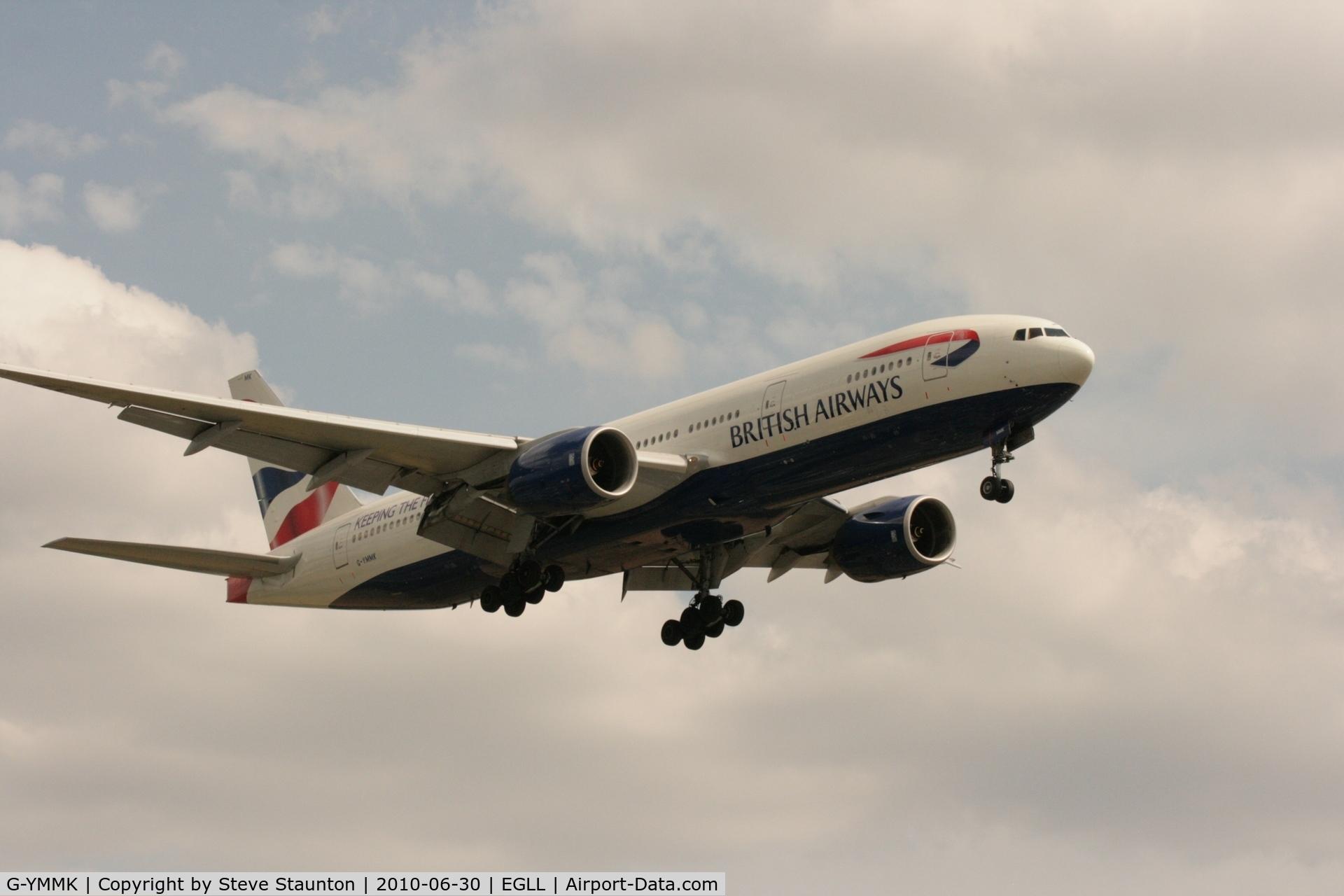 G-YMMK, 2000 Boeing 777-236 C/N 30312, Taken at Heathrow Airport, June 2010