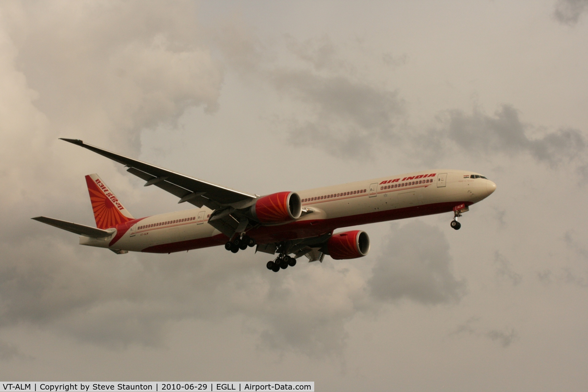 VT-ALM, 2008 Boeing 777-337/ER C/N 36311, Taken at Heathrow Airport, June 2010