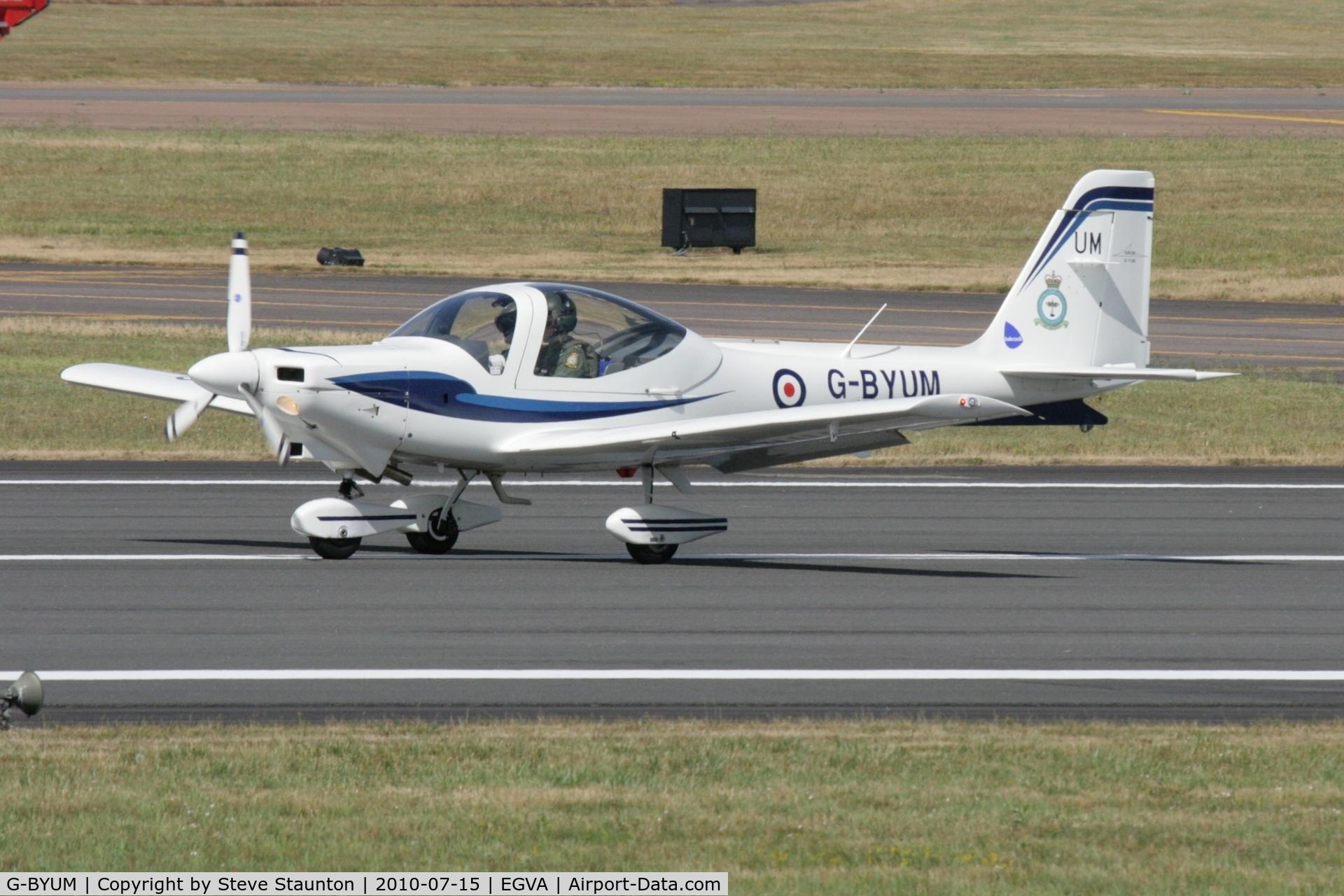 G-BYUM, 1999 Grob G-115E Tutor T1 C/N 82098/E, Taken at the Royal International Air Tattoo 2010
