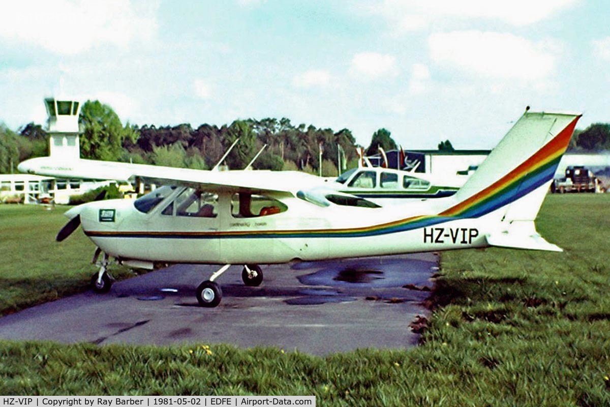 HZ-VIP, 1976 Reims F177RG Cardinal RG C/N F177GR0139, R/Cessna F.177RG Cardiinal RG [0139] Eglesbach~D 02/05/1981. Taken from a slide.