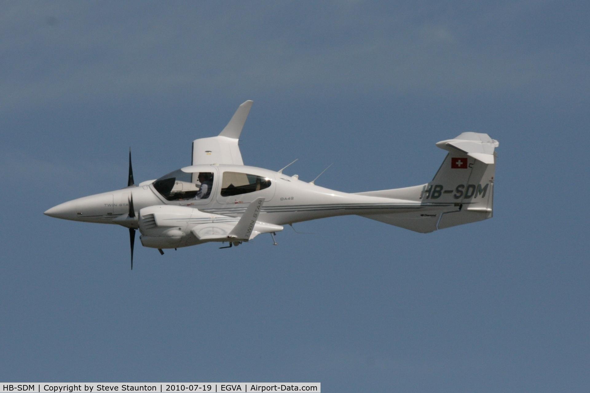 HB-SDM, 2005 Diamond DA-42 Twin Star C/N 42.039, Taken at the Royal International Air Tattoo 2010