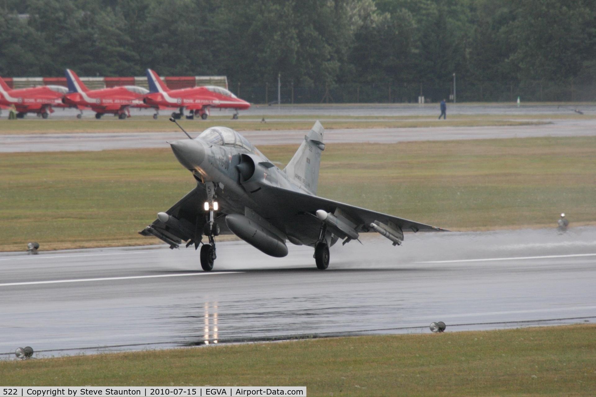 522, Dassault Mirage 2000B C/N 297, Taken at the Royal International Air Tattoo 2010