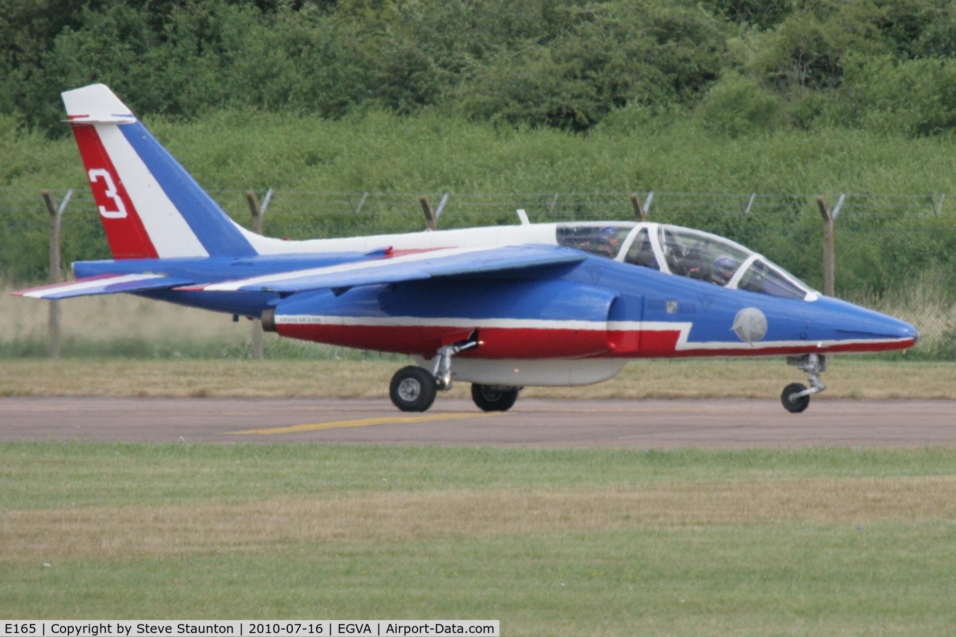 E165, Dassault-Dornier Alpha Jet E C/N E165, Taken at the Royal International Air Tattoo 2010