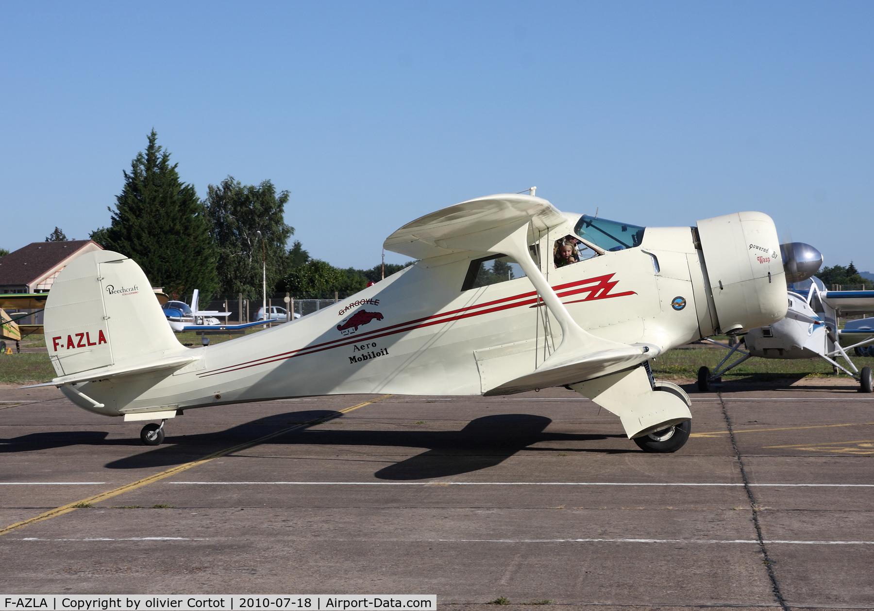 F-AZLA, 1943 Beech D17S Staggerwing C/N 4829, Euro fly-in 2010, Saint Yan, France