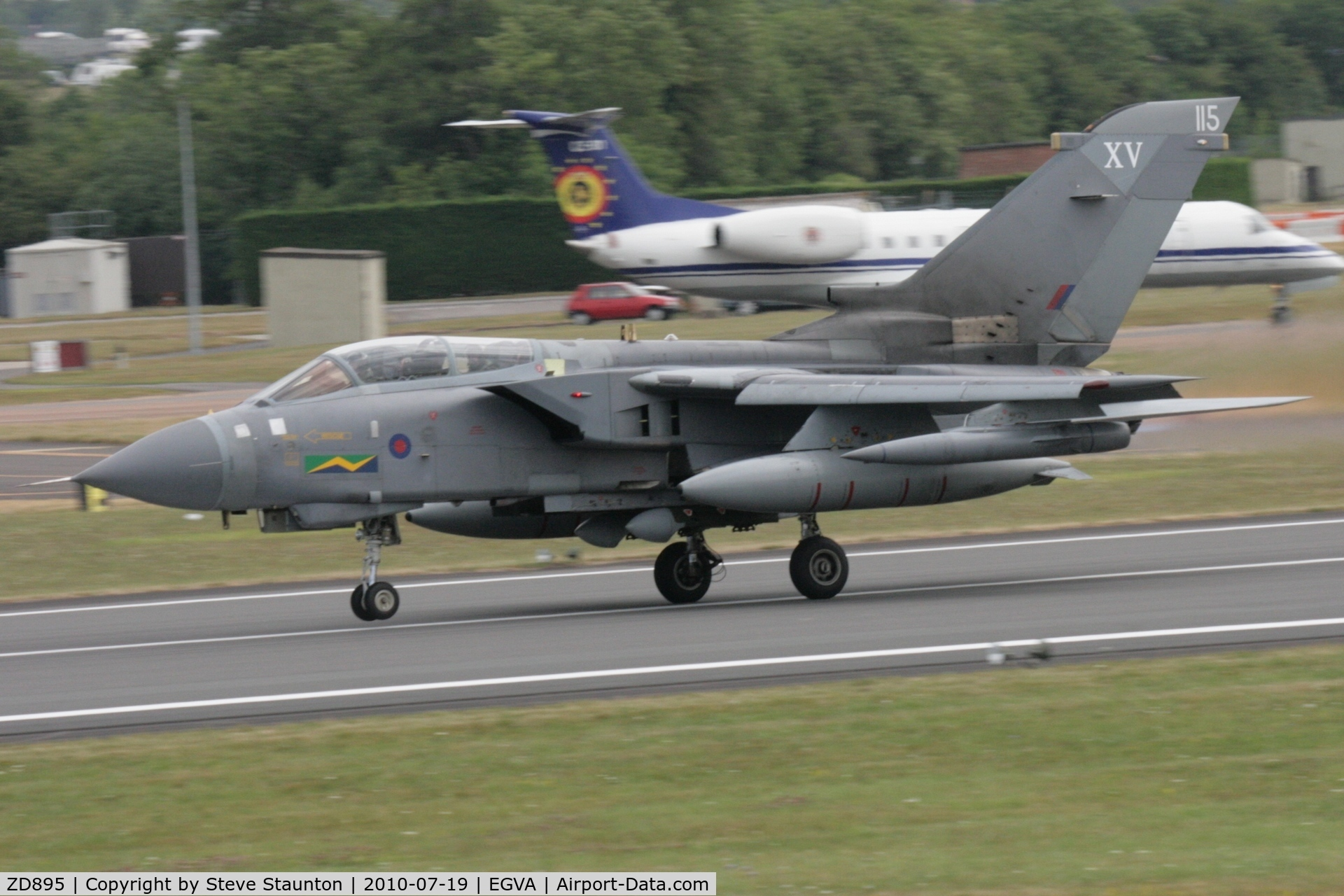 ZD895, 1985 Panavia Tornado GR.4 C/N 477/BS155/3216, Taken at the Royal International Air Tattoo 2010