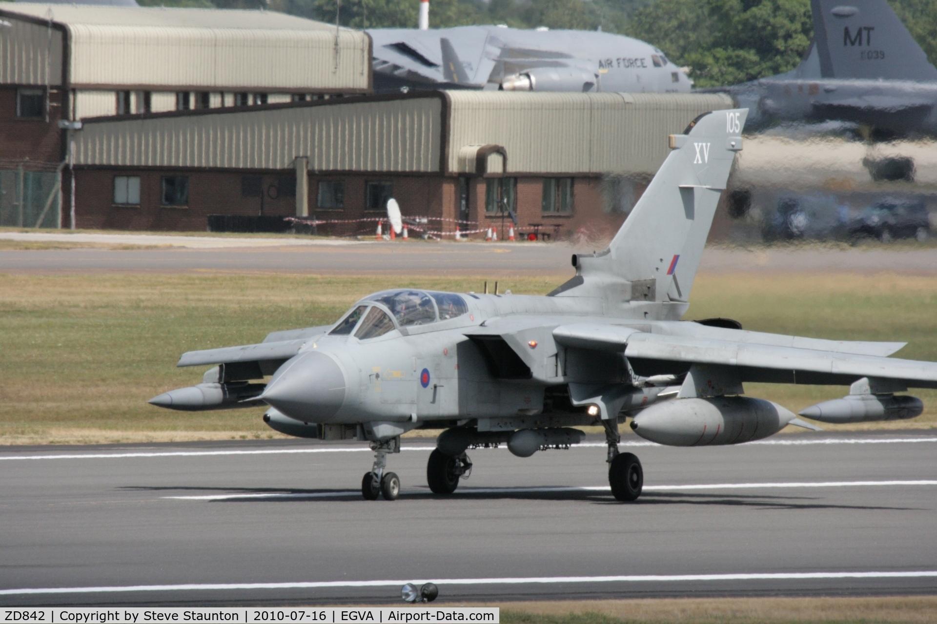 ZD842, 1985 Panavia Tornado GR.4 C/N 423/BT044/3193, Taken at the Royal International Air Tattoo 2010