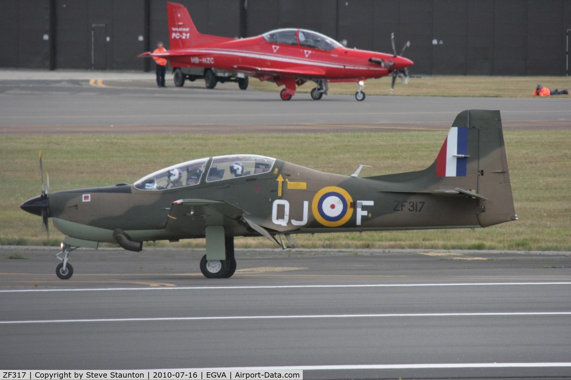 ZF317, Short S-312 Tucano T1 C/N S098/T69, Taken at the Royal International Air Tattoo 2010