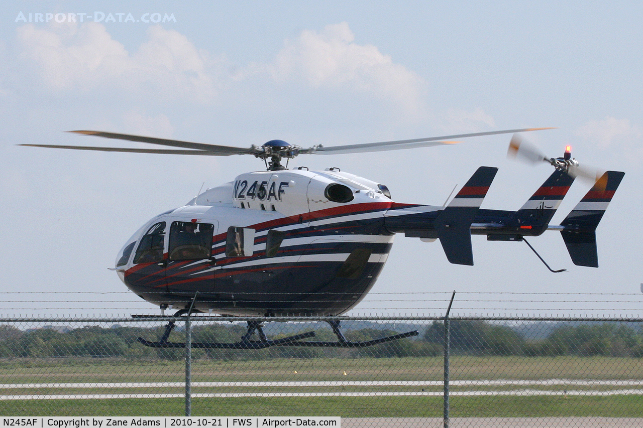 N245AF, Eurocopter-Kawasaki EC-145 (BK-117C-2) C/N 9322, At Fort Worth Spinks Airport, TX