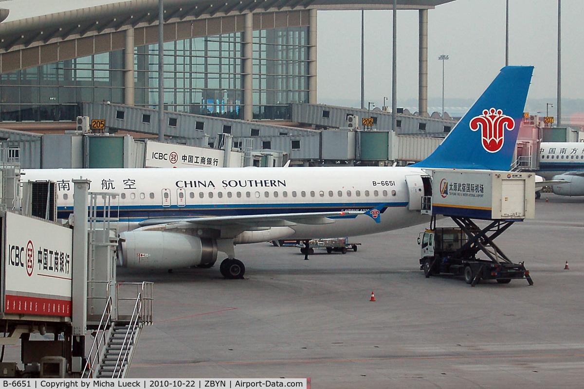 B-6651, 2010 Airbus A320-232 C/N 4260, At Taiyuan