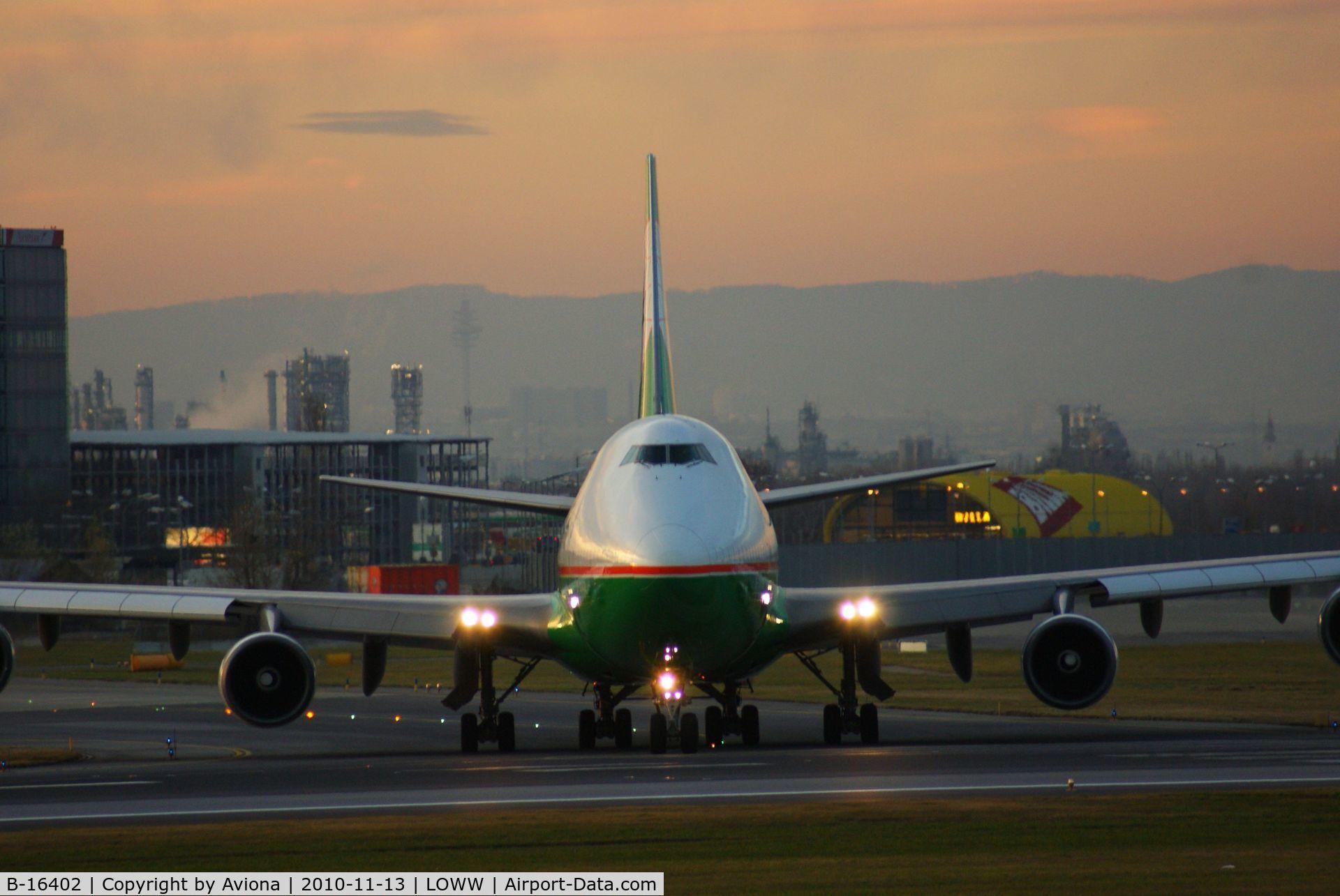 B-16402, 1992 Boeing 747-45E C/N 27063, B-16402@ VIE