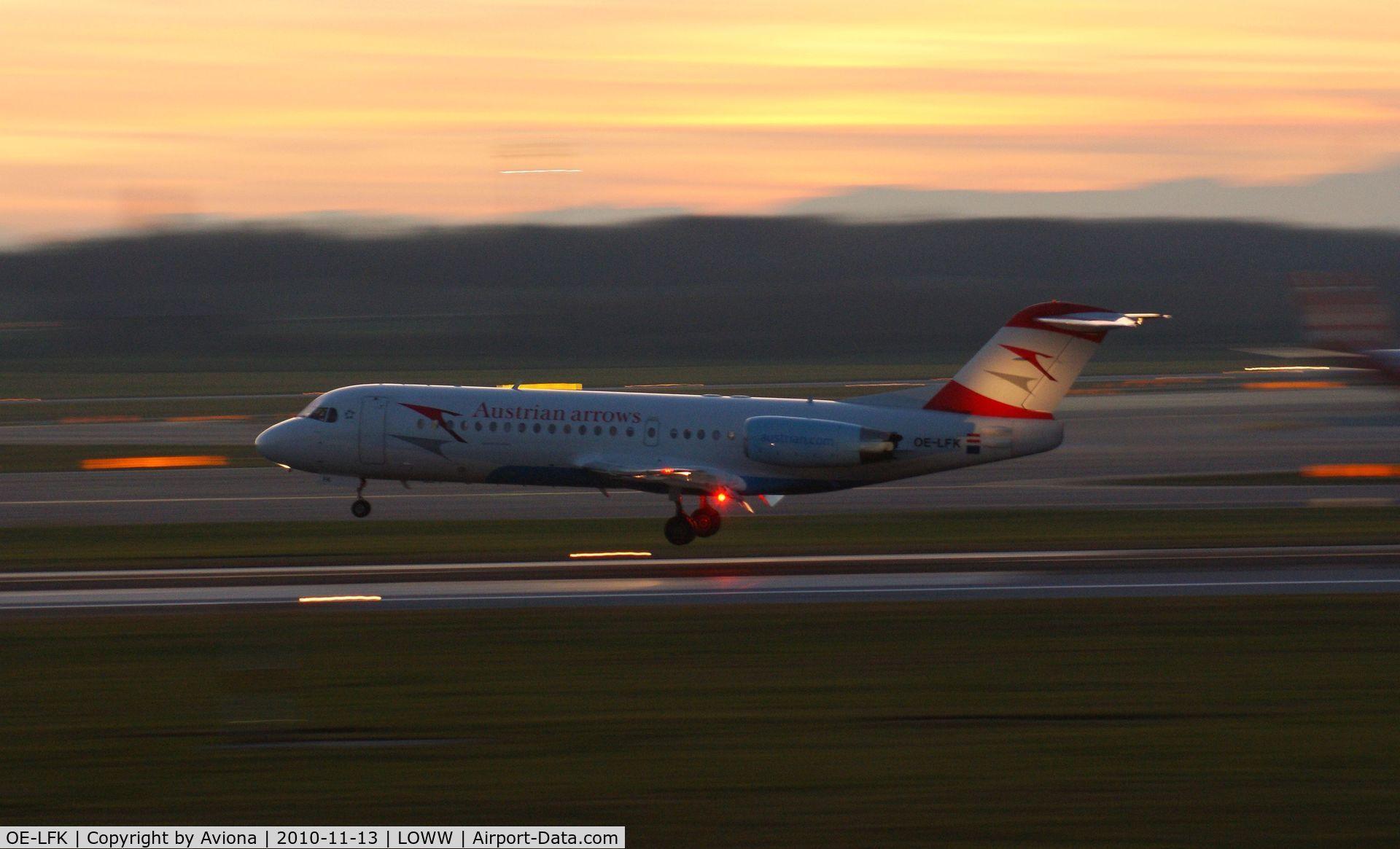 OE-LFK, 1995 Fokker 70 (F-28-0070) C/N 11555, OE-LFK @ VIE