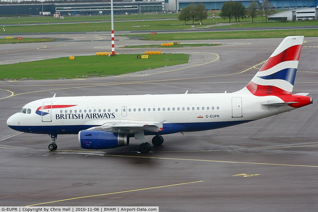 G-EUPR, 2000 Airbus A319-131 C/N 1329, British Airways