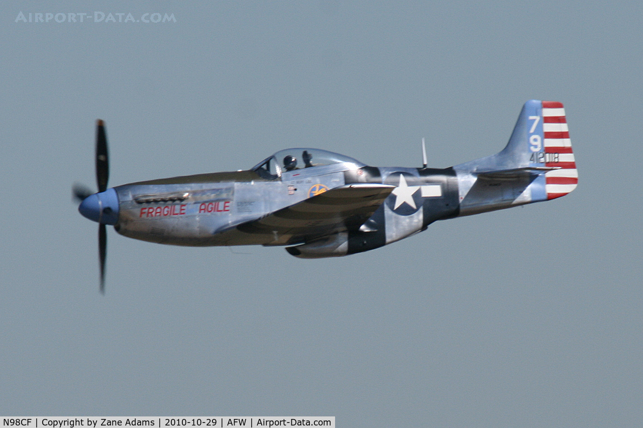 N98CF, North American P-51K C/N 44-12016, At the 2010 Alliance Airshow - Fort Worth, TX