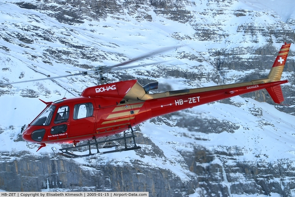 HB-ZET, Eurocopter AS-350B-3 Ecureuil C/N 3715, at Lauberhorn