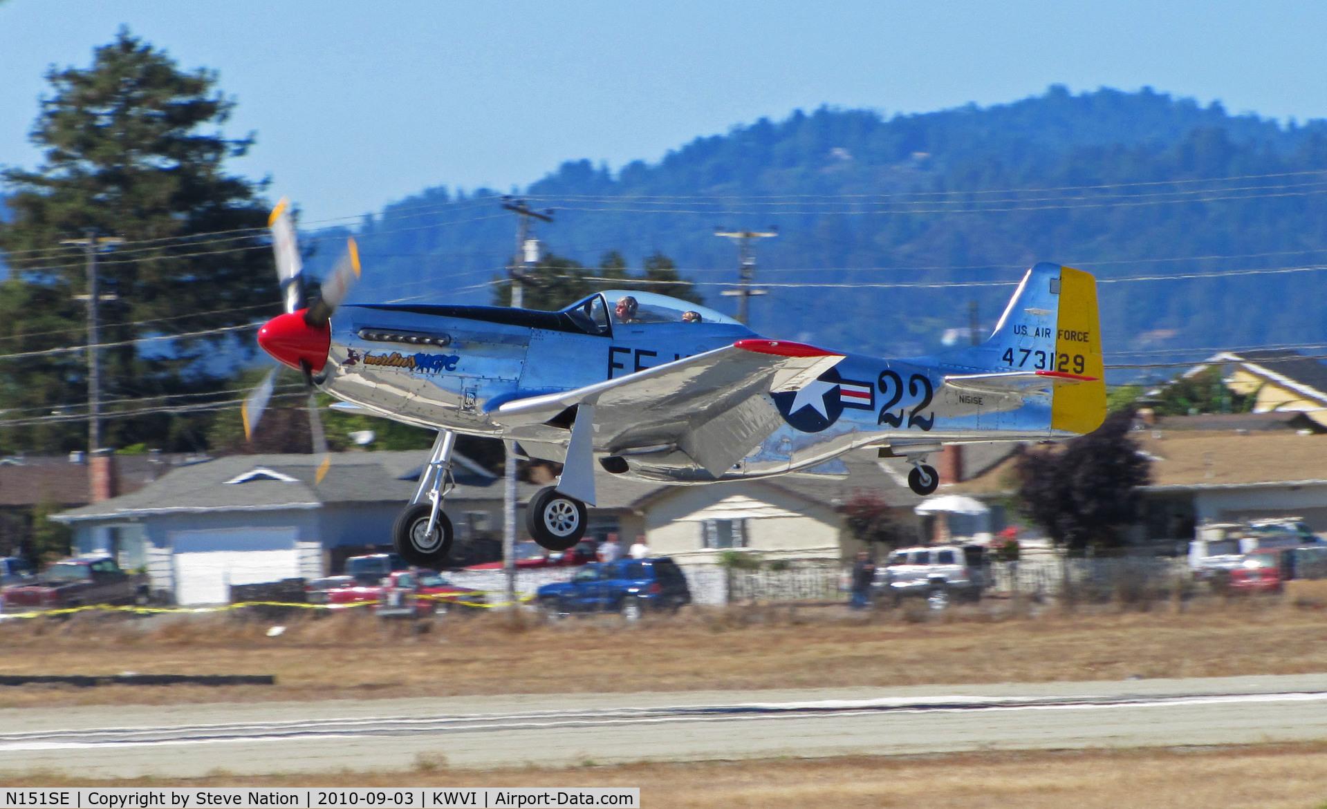 N151SE, 1944 North American P-51D Mustang C/N 122-39588 (44-73129), 1944 P-51D 44-35972 44-73129 U.S. Air Force FF-129 #22 'Merlin's Magic
