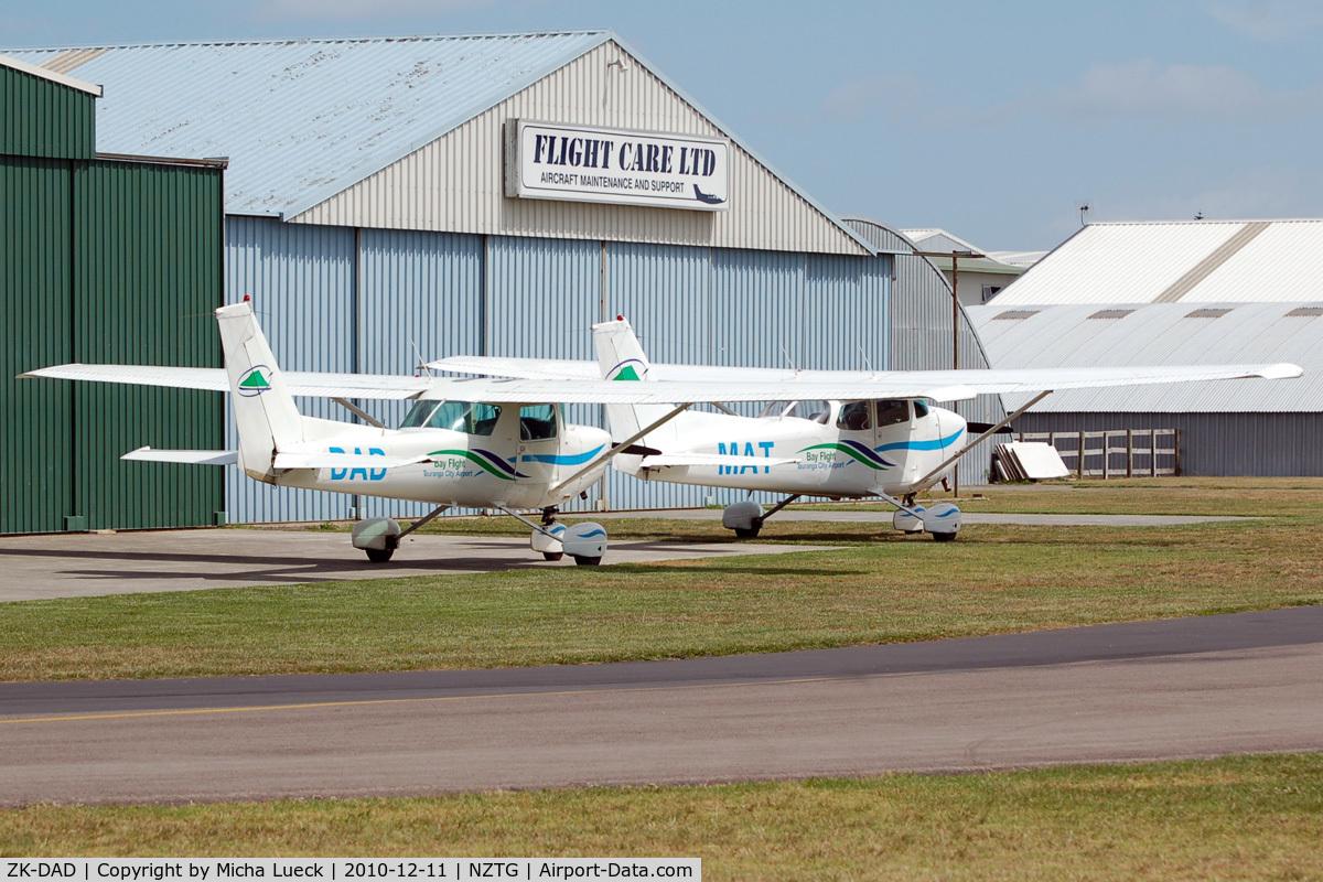 ZK-DAD, Cessna A152 Aerobat C/N A1520768, ZK-DAD and ZK-MAT at Tauranga