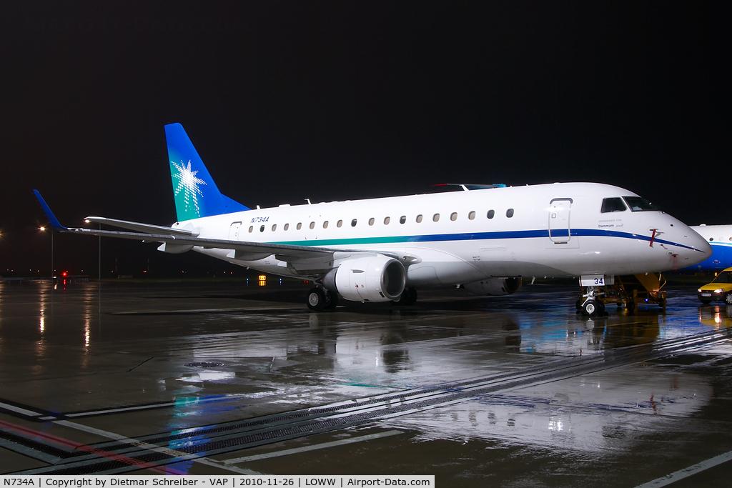 N734A, Embraer 170LR (ERJ-170-100LR) C/N 17000318, Aramco Embraer 170