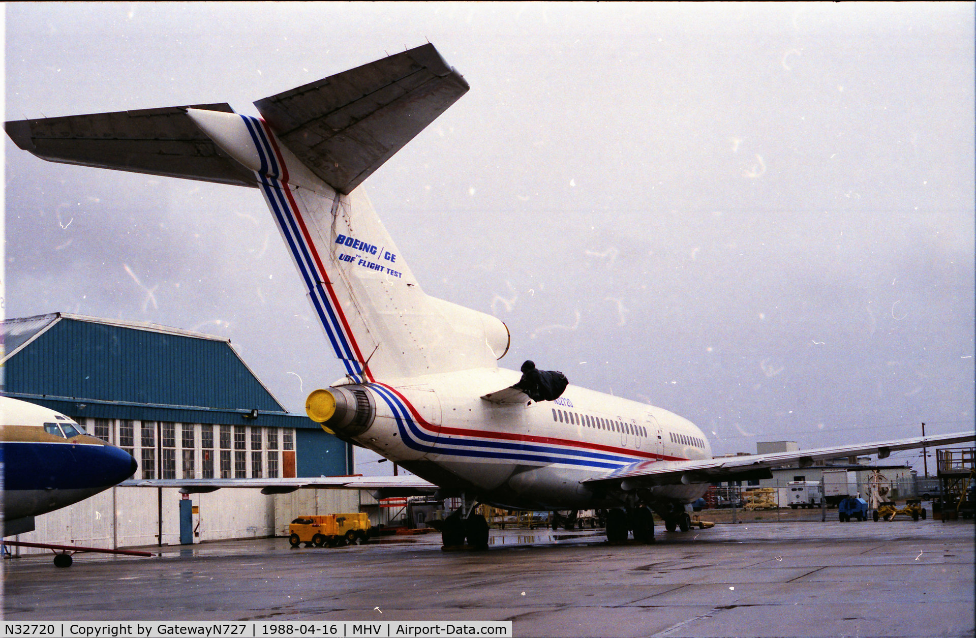 N32720, 1968 Boeing 727-063 C/N 19846, Used as Unducted Fan test bed. Originally delivered to Faucett in 1968.