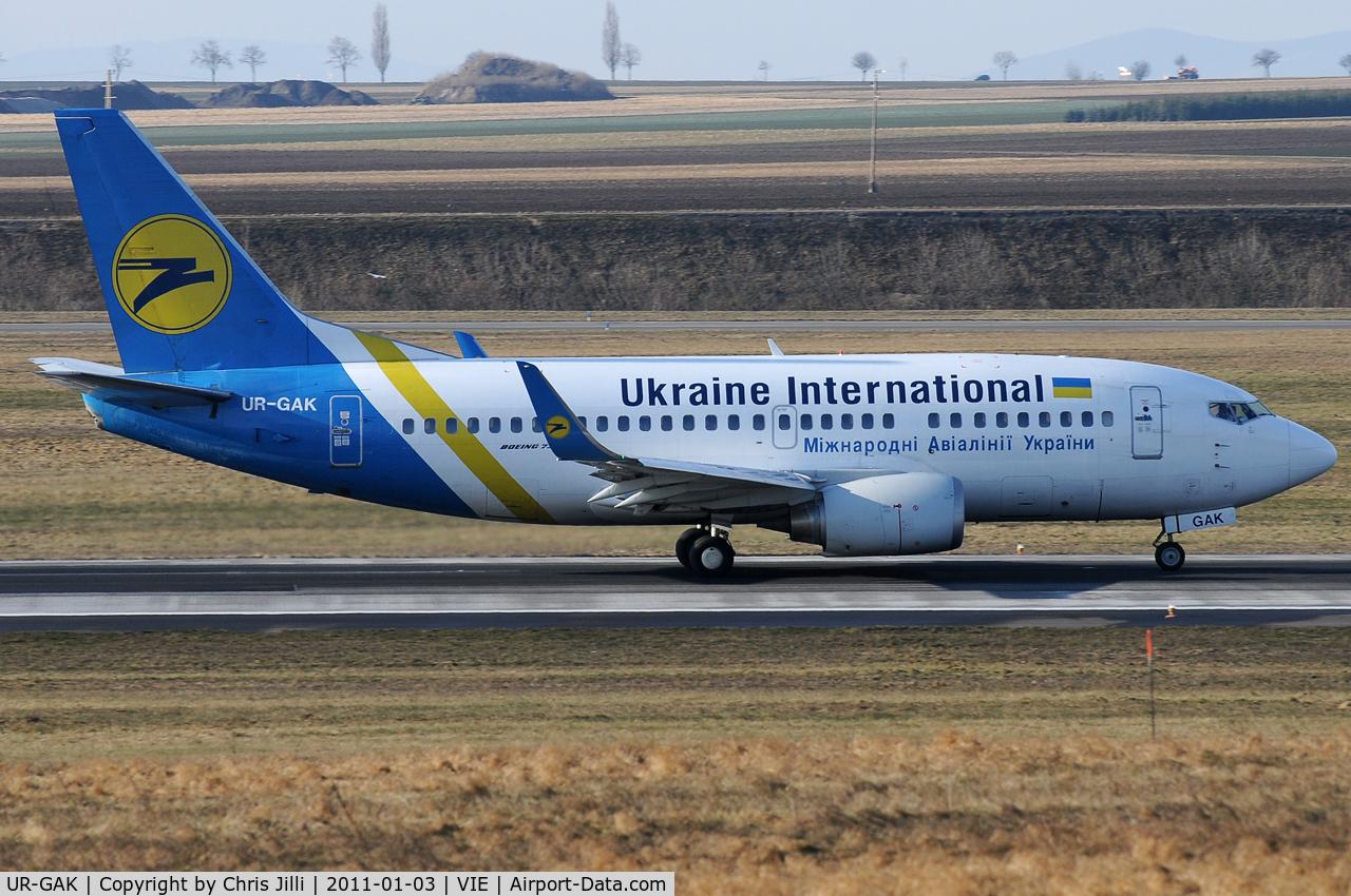 UR-GAK, 1992 Boeing 737-5Y0 C/N 26075, Ukraine Intl.