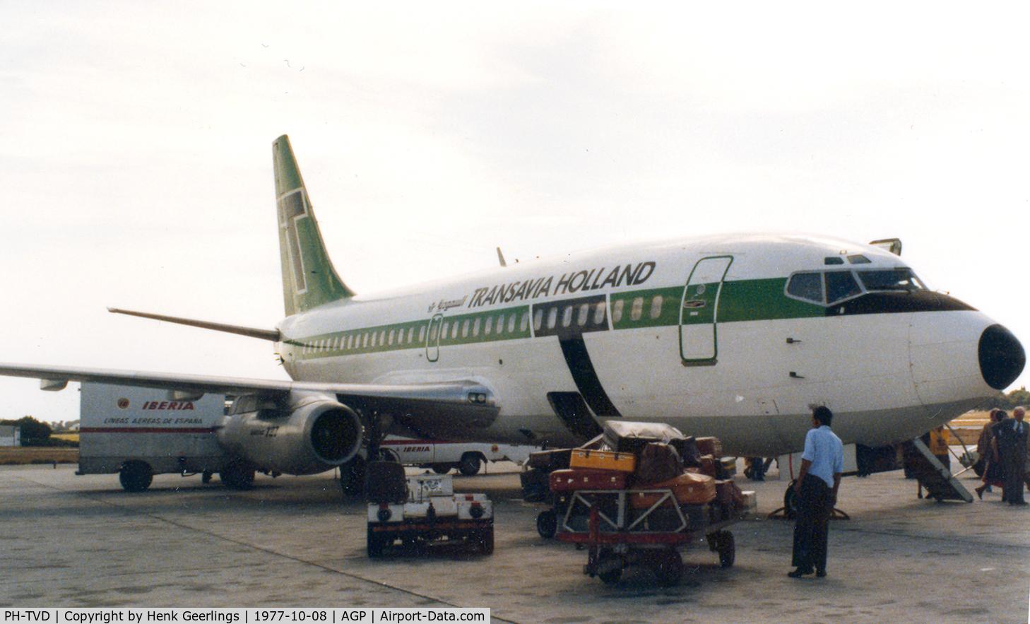 PH-TVD, 1975 Boeing 737-2K2C C/N 20943, Transavia Holland , Malaga , 1977