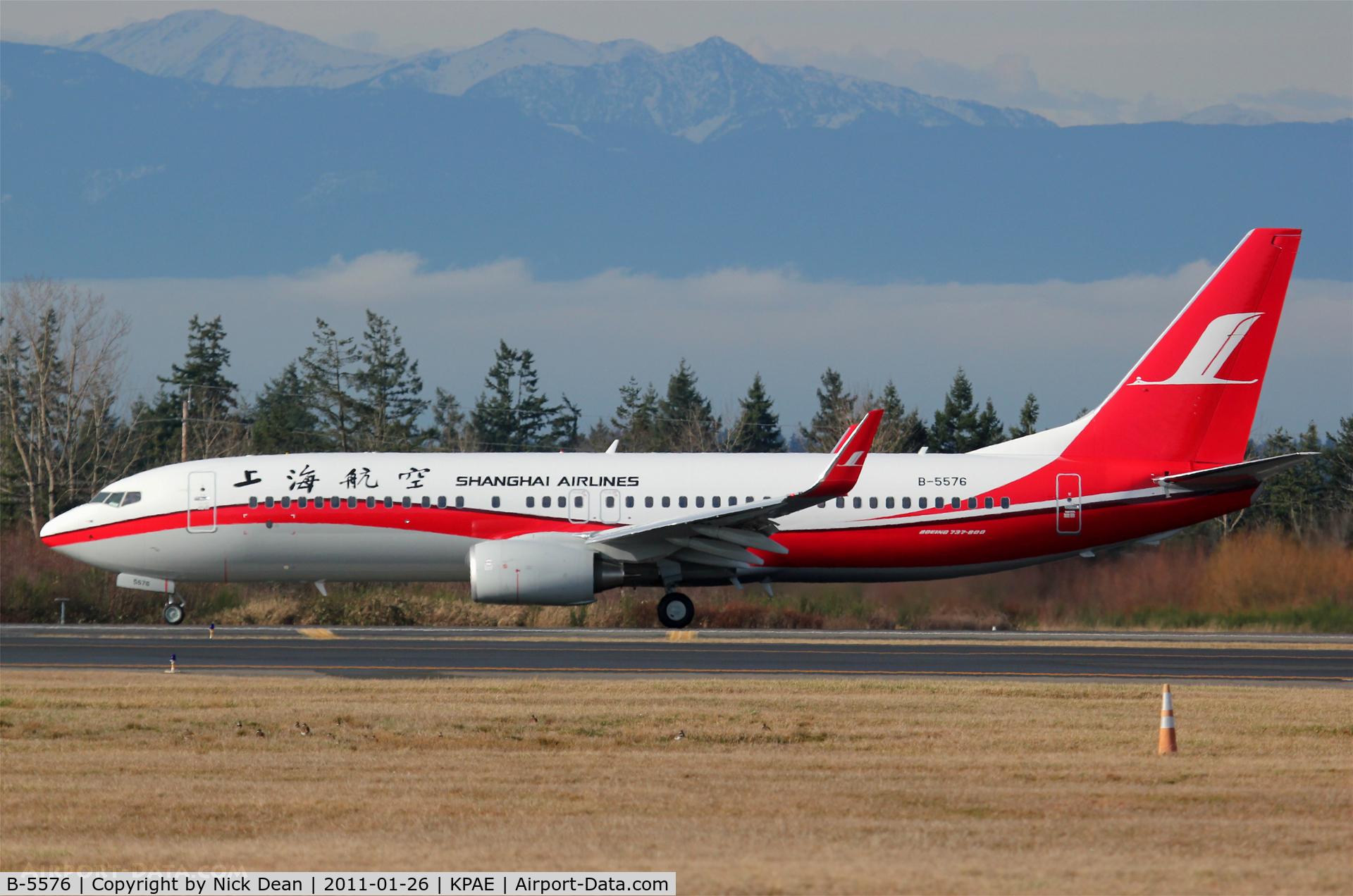B-5576, 2011 Boeing 737-86N C/N 38011, KPAE