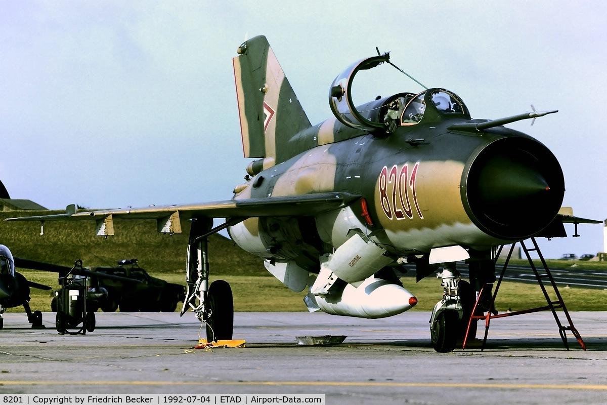 8201, Mikoyan-Gurevich MiG-21MF C/N 968201, static display