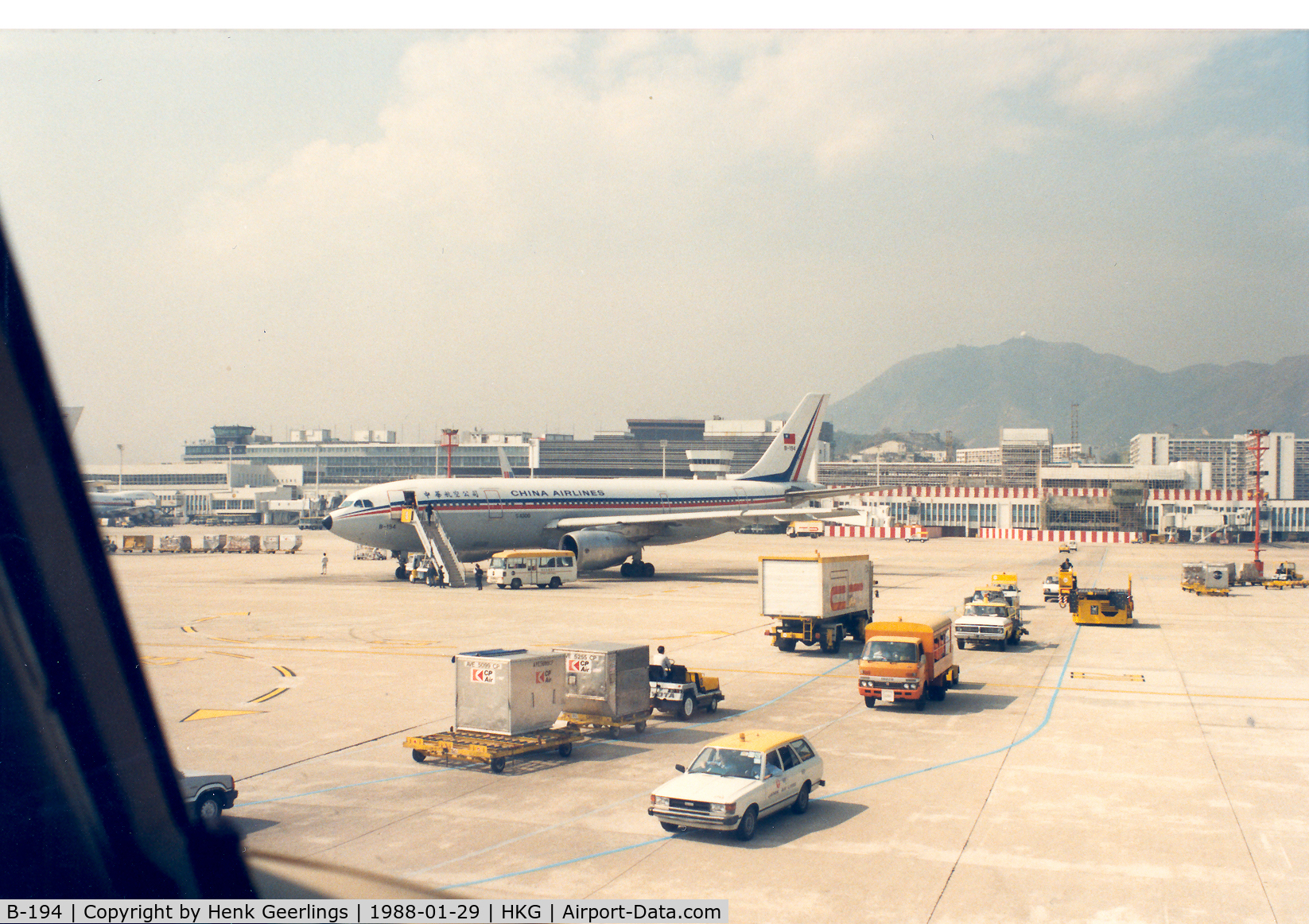 B194, 1982 Airbus A300B4-220 C/N 221, China Airlines , Hongkong Kai Tak Airport