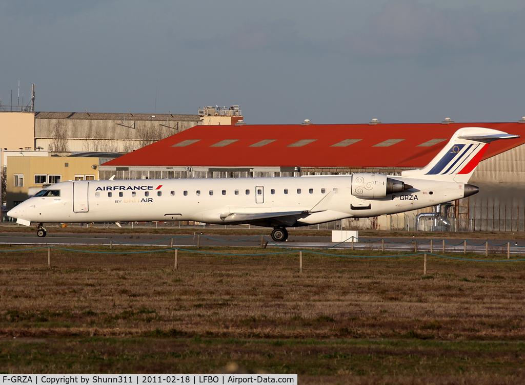 F-GRZA, 2000 Canadair CRJ-702 (CL-600-2C10) Regional Jet C/N 10006, Ready for take off rwy 32R... in new modified Air France c/s...