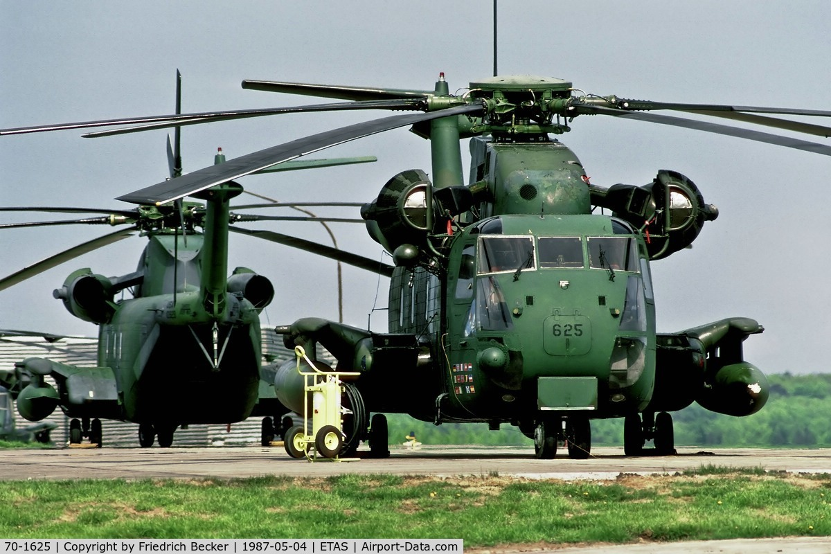 70-1625, 1970 Sikorsky MH-53J Pave Low III C/N 65-335, originally a CH-53C, later converted to MH-53M, assigned to the 16th SOW, 20th SOS, it crashed near Bagram, Afghanistan Nov 23, 2003