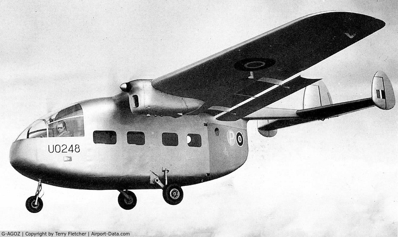 G-AGOZ, 1945 Miles M57 Aerovan C/N 4700, Prototype Miles M57 Aerovan , UO248 first flew in January 1945  - a total of 52 were completed