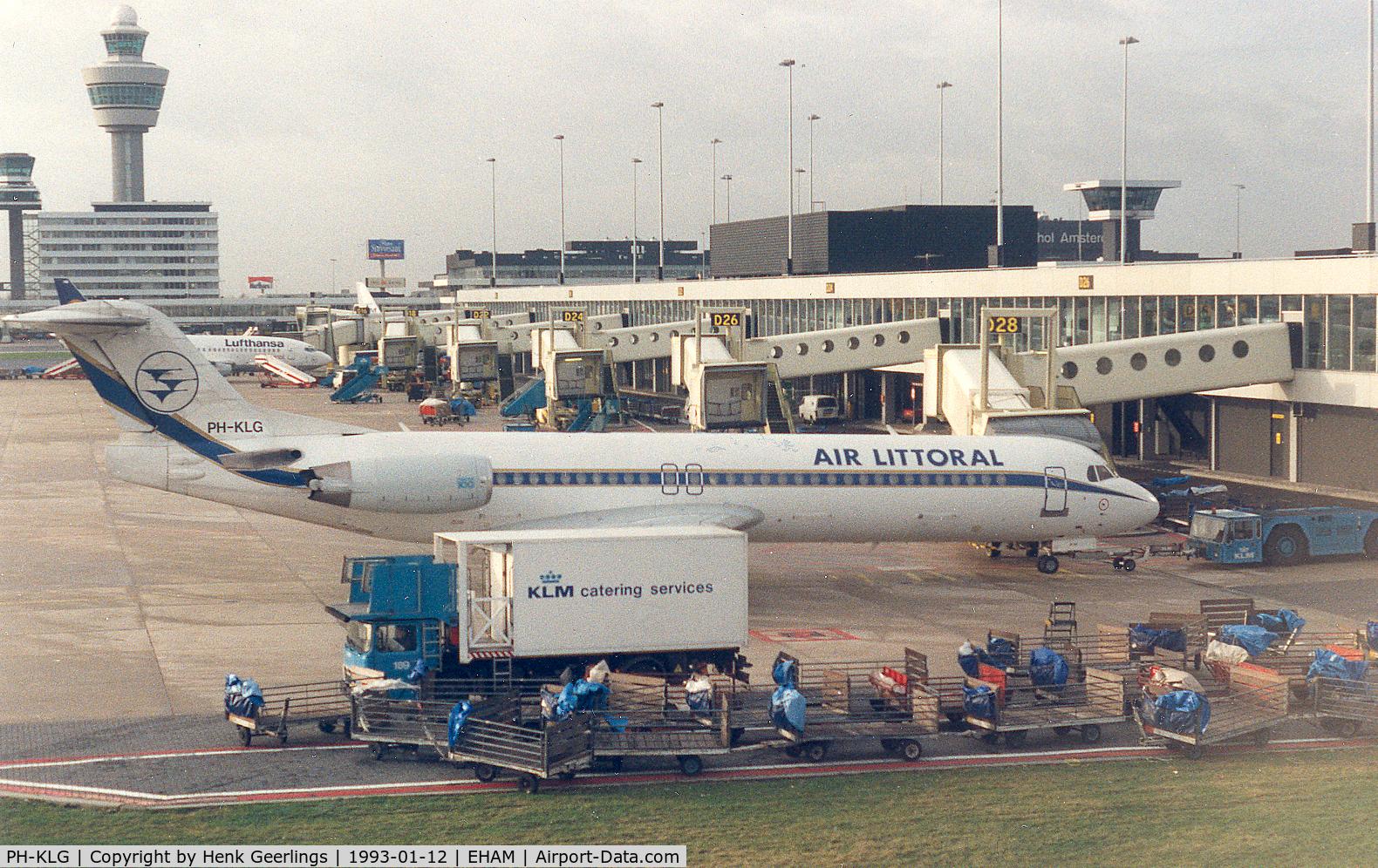 PH-KLG, 1989 Fokker 100 (F-28-0100) C/N 11271, Air Littoral