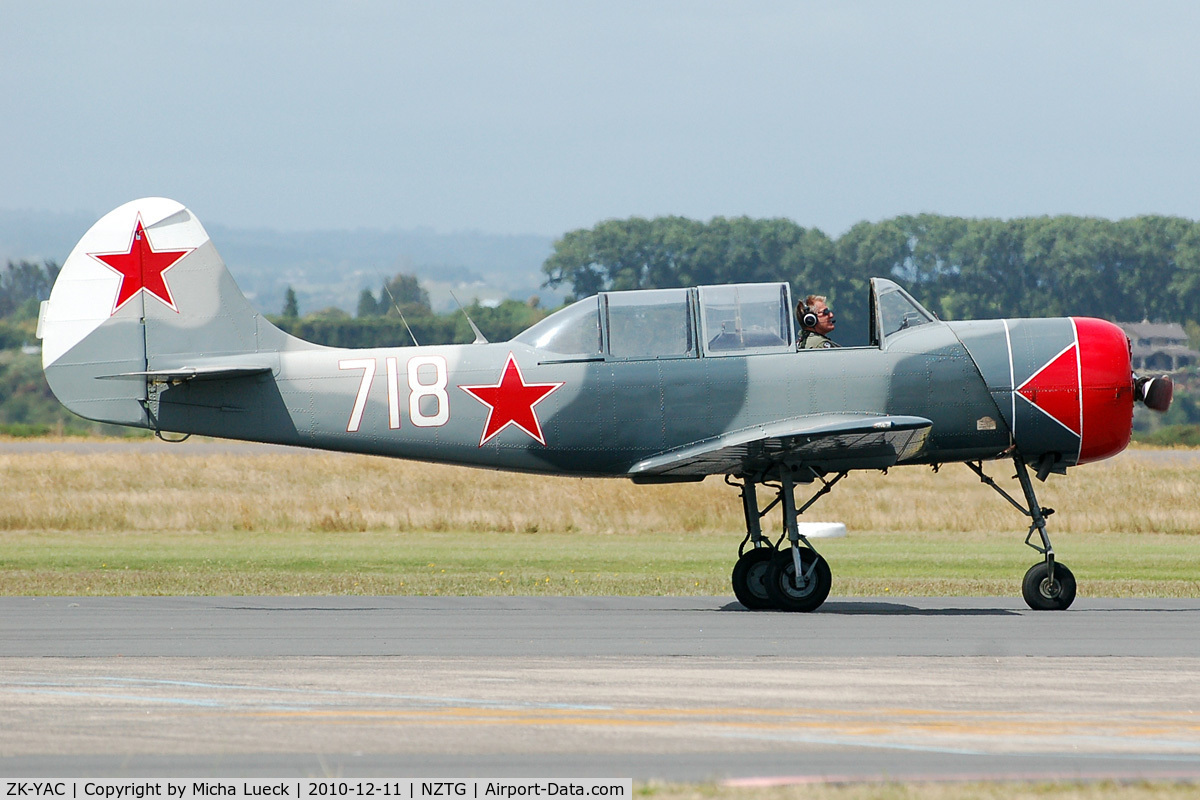 ZK-YAC, Yakovlev Yak-52 C/N 822108, At Tauranga