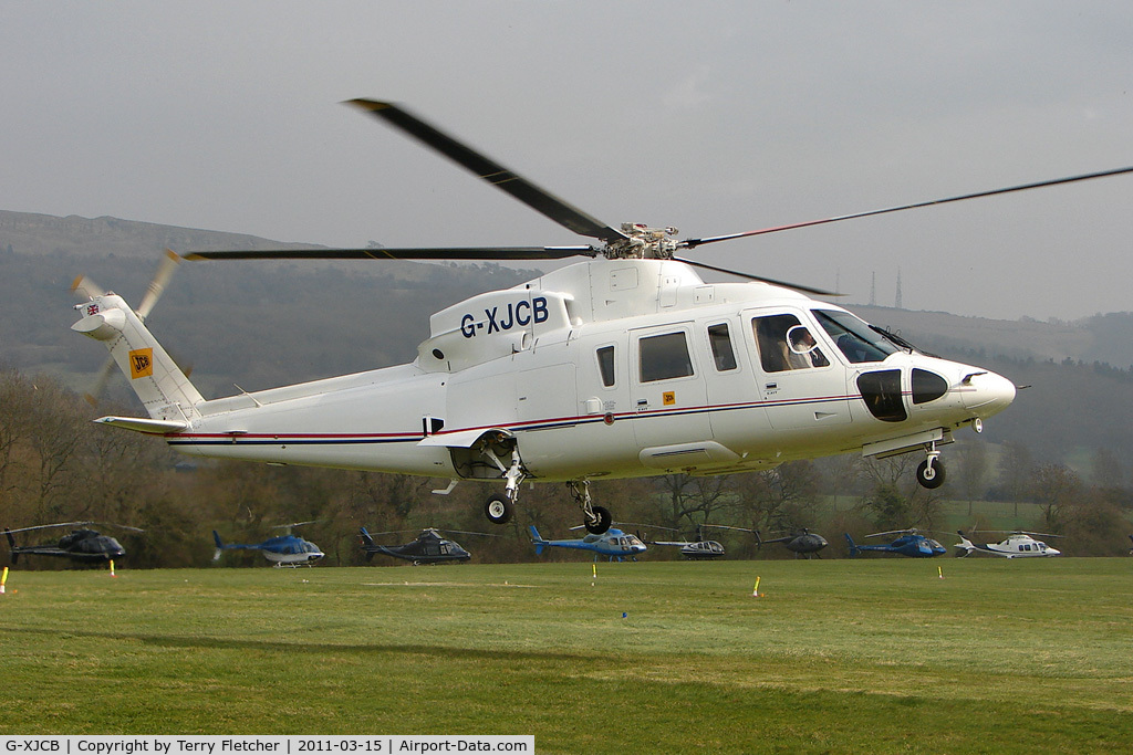 G-XJCB, 2006 Sikorsky S-76C C/N 760616, Visitor to Day 1 of the 2011 Cheltenham Horseracing Festival