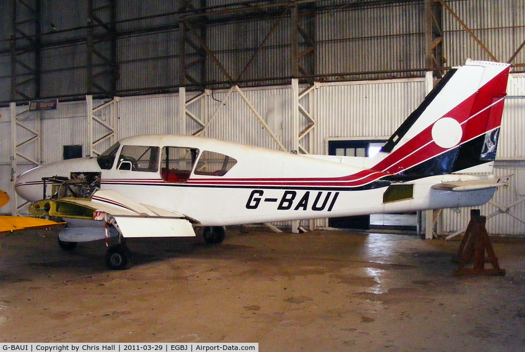 G-BAUI, 1969 Piper PA-23-250 Aztec C/N 27-4335, Gloucester University instructional airframe