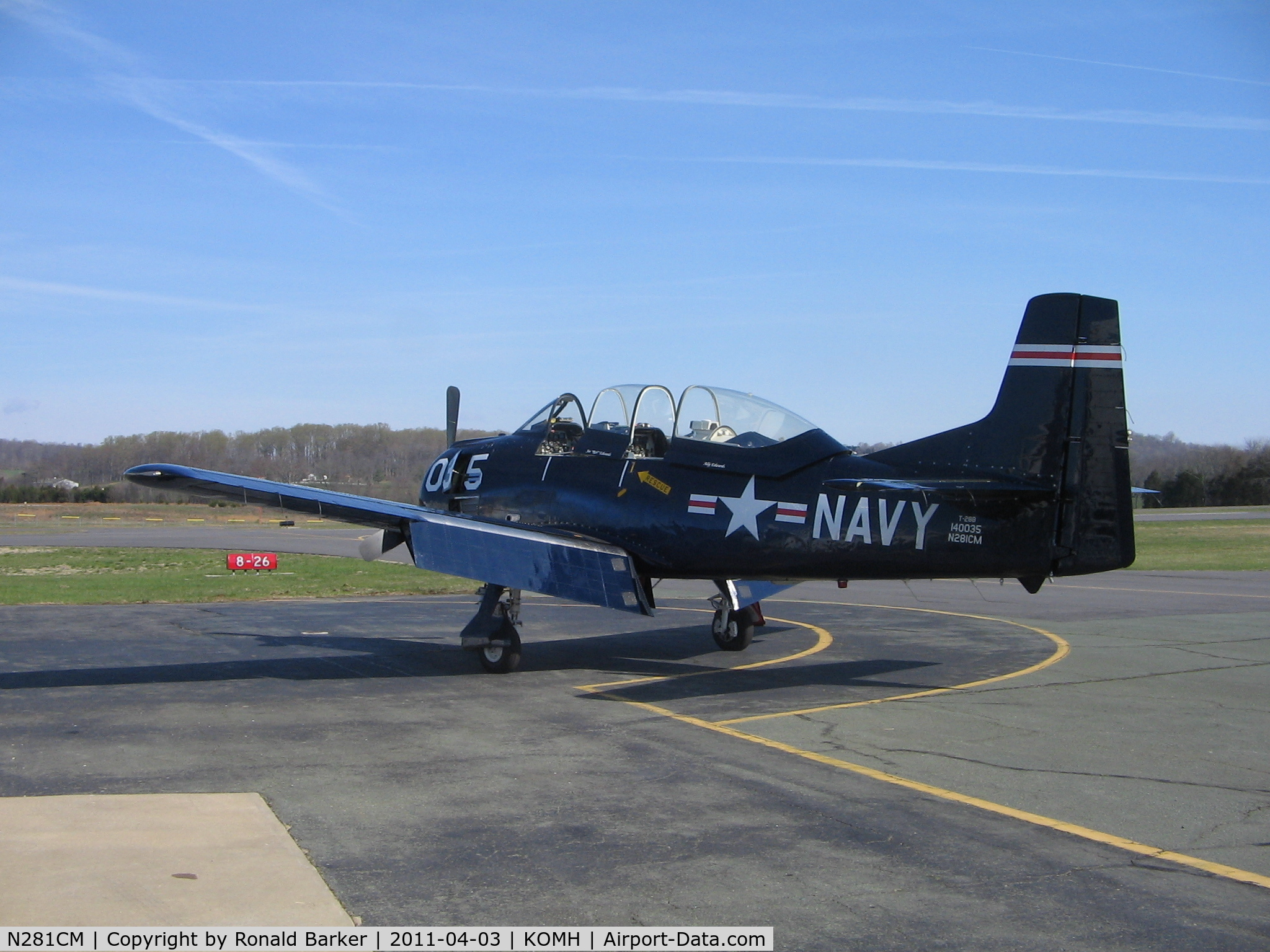 N281CM, 1955 North American T-28B Trojan C/N 219-34, Orange County Airport, VA