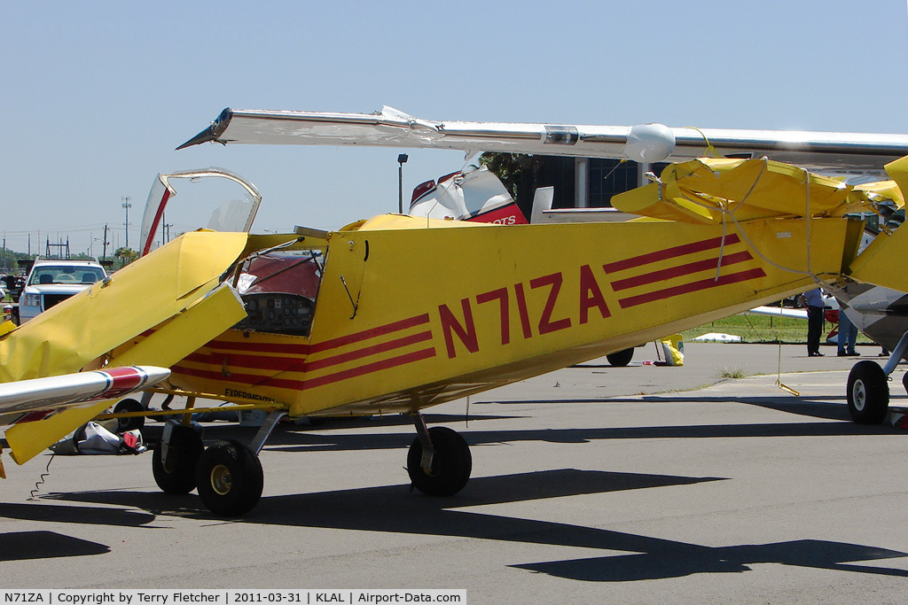 N71ZA, Zenith STOL CH-701 C/N 7-7186, Nelson Burl ZENITH 701, c/n: 7-7186 on the wrong end of storm damage at 2011 Sun n Fun