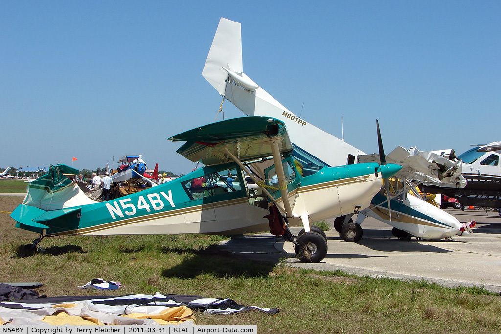 N54BY, 2005 American Champion 7GCBC C/N 1404-2005, 2005 American Champion Aircraft 7GCBC, c/n: 1404-2005 - one of the victims of storm damage at 2011 Sun n Fun