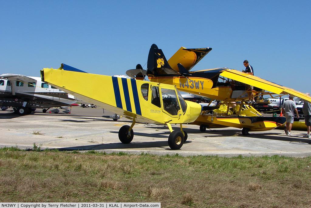 N43WY, 2011 Aviat A-1C-180 Husky C/N 3113, Aviat Aircraft Inc A-1C-180, c/n: 3113 after storm at 2011 Sun n Fun