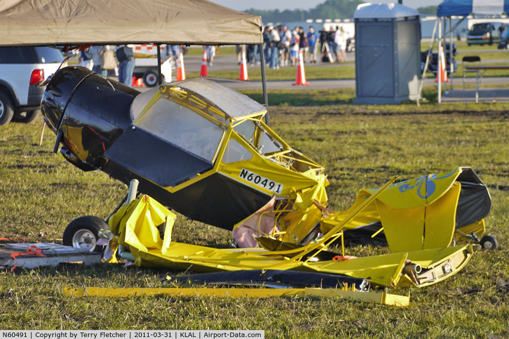 N60491, Denney Kitfox Model 2 C/N Not found N60491, Kitfox destroyed by Storms at 2011 Sun n Fun