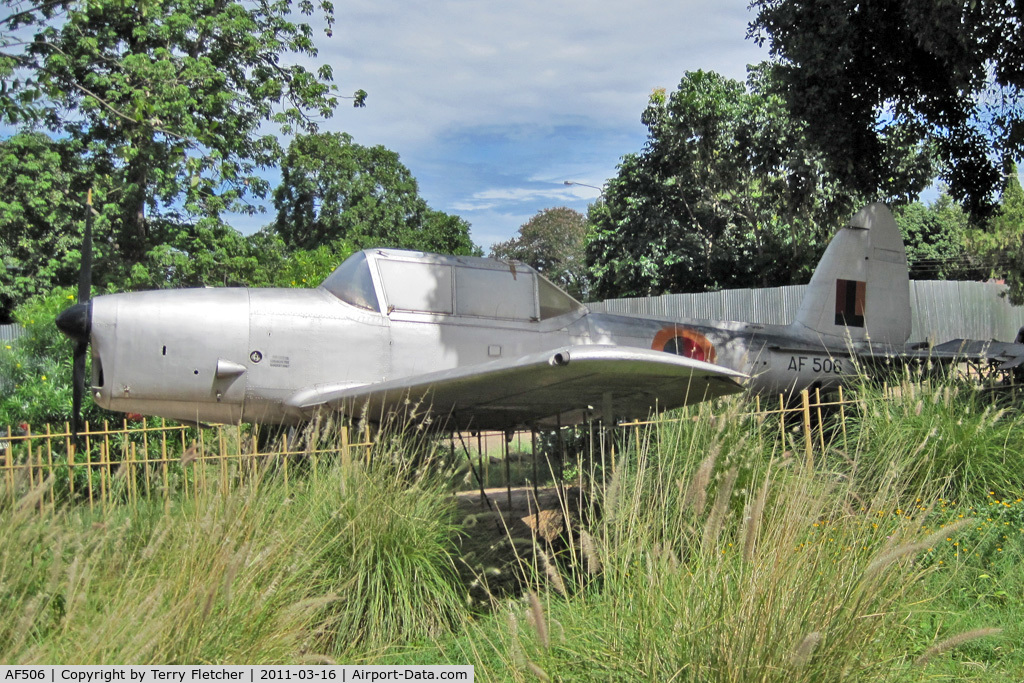 AF506, 1951 De Havilland DHC-1 Chipmunk T.10 C/N C1/0502, ex Zambia AF 1951 De Havilland DHC-1 Chipmunk T10, c/n: C1-0502 9ex WG428) at Victoria Falls