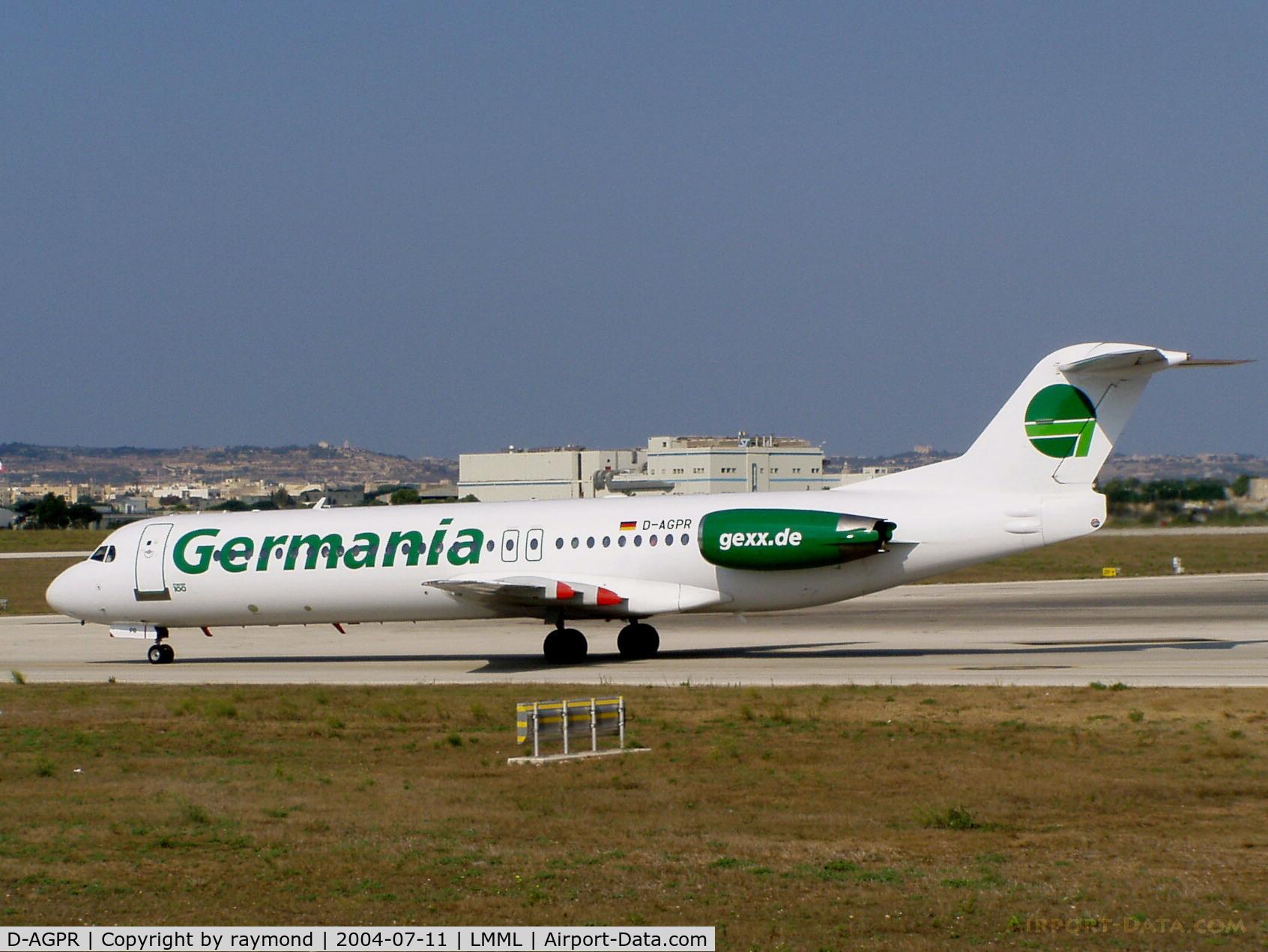 D-AGPR, 1992 Fokker 100 (F-28-0100) C/N 11391, F100 D-AGPR Germania
