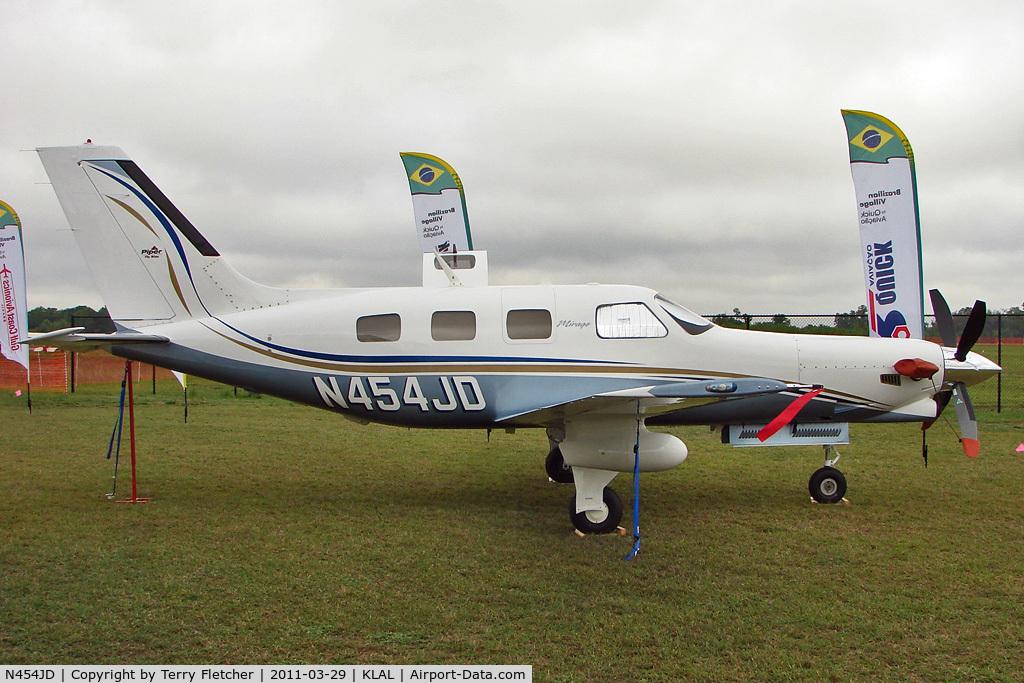 N454JD, Piper PA-46-350P Malibu Mirage C/N 4636454, 2011 Sun n Fun Static Display