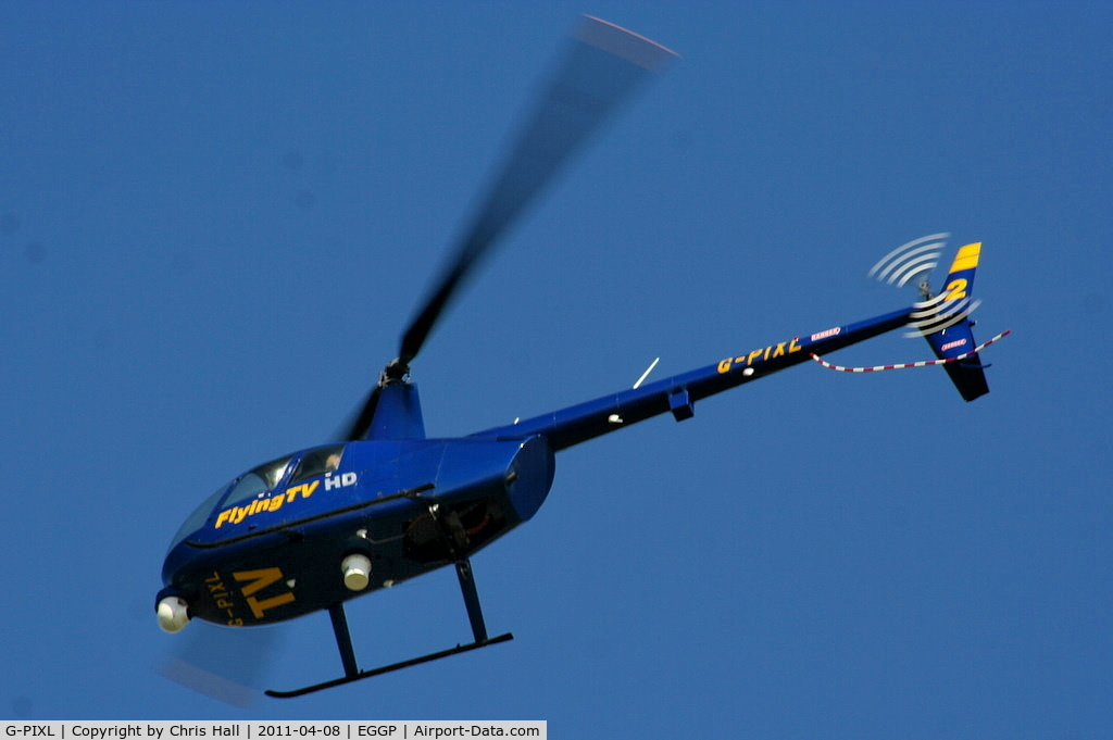 G-PIXL, 2006 Robinson R44 Raven II C/N 11221, Flying TV Ltd
