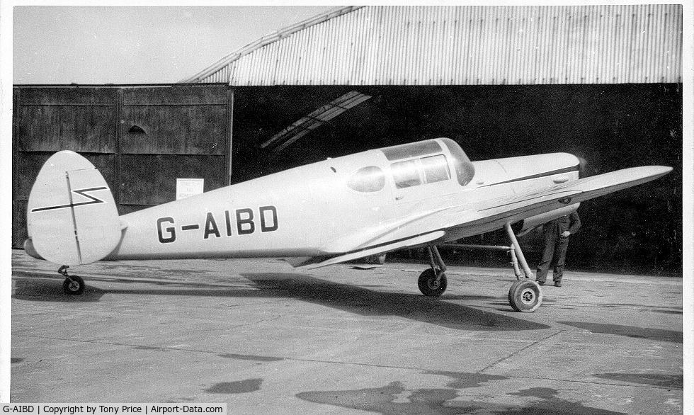 G-AIBD, Miles M38 Messenger 2A C/N 6336, Miles Messenger 2a - Taken in around 1956 at Shoreham Airport, Suusex , UK