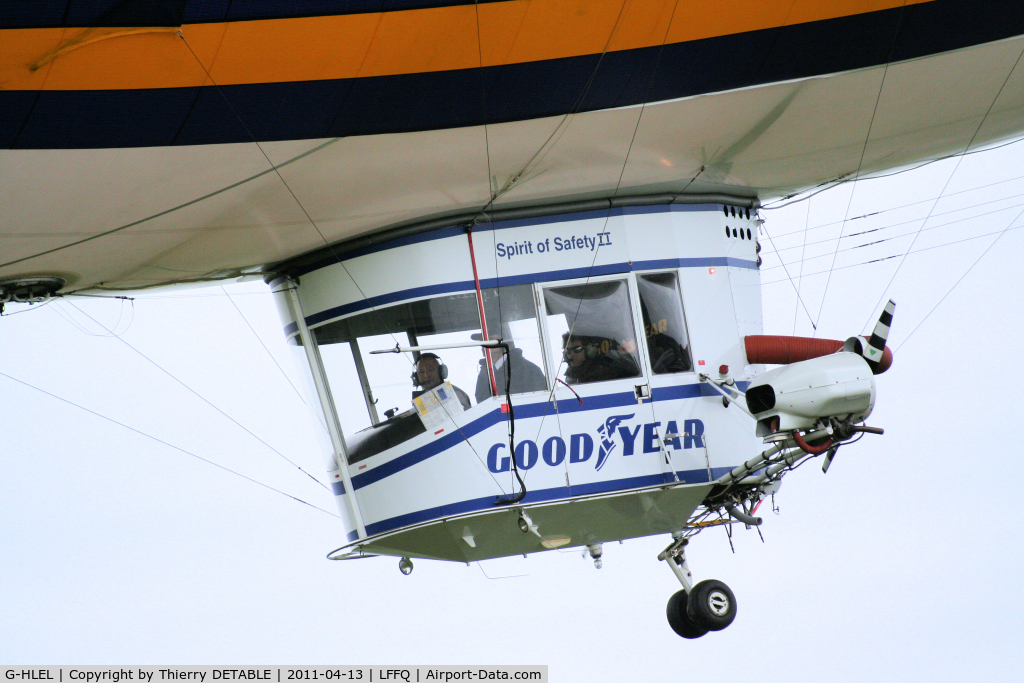 G-HLEL, 1995 American Blimp Corp A-60+ C/N 10, Gondola 5 seats inclus 1 pilot